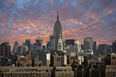 View of New York City from Brooklyn Bridge — Stock Photo