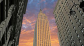 Sunset over Empire State Building, U.S.A. — Stock Photo