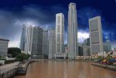 Tempesta si avvicina a singapore — Foto Stock