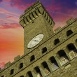 Bottom-Up view of Piazza della Signoria in Florence — Stock Photo