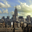View of New York City from Brooklyn Bridge — Stok fotoğraf