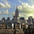 View of New York City from Brooklyn Bridge — 图库照片