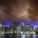 在纽约城日落 — 图库照片