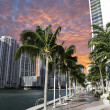 Miami Beach at Sunset, Florida — Stock Photo