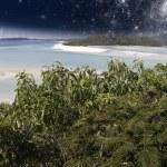 Starry Night in the Whitsunday Archipelago, Australia — Stock Photo #6101032