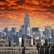 Stock Photo: Storm approaching New York City