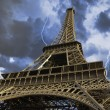 View of Eiffel Tower from Below, Paris - Stock Photo
