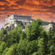 Sunset over a Castle in Austria — Stock Photo