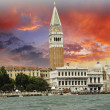 Piazza San Marco from the Sea, Venice — Stock Photo