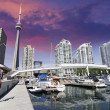 Downtown View of Toronto from the Pier — Stock Photo