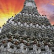 Thai Temple and Sky Colors - 图库照片