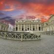 Sunset over Piazza San Pietro, Rome — Photo