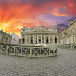 Sunset over Piazza San Pietro, Rome - 图库照片