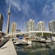 View of Toronto from a Pier, Canada — Stock Photo #6101849