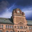 Storm approaching Post Office Building in Stockholm — Stock Photo
