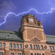 Storm approaching Post Office Building in Stockholm — Stock Photo #6101995