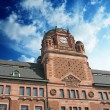 Cloudy Sky over Post Office Building in Stockholm — Stock Photo