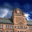 Storm approaching Post Office Building in Stockholm — Stock Photo #6102002