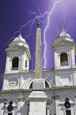 Trinita' dei Monti, Rome, Italy — Stock Photo