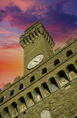 Bottom-Up view of Piazza della Signoria in Florence — Stock Photo