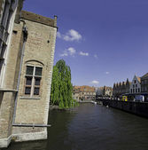 Channels of Bruges, Belgium — Stock Photo