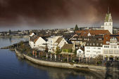 Typical Homes and Buildings of Friedrichshafen — Stock Photo