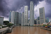 Stormy Sky over Singapore — Stock Photo