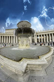 Sky Colors over Piazza San Pietro, Vatican City — Stock Photo