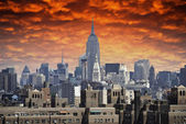 Storm approaching New York City — Stock Photo