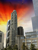 Sky Colors over New York City Skyscrapers — Stock Photo