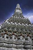 タイ バンコク寺以上嵐 — ストック写真