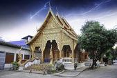 Thunderstorm over Thai Temple — Stock Photo