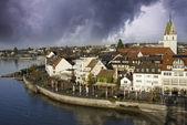 Tempesta si avvicina a friedrichshafen in germania — Foto Stock