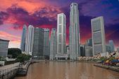 Himmel farben über singapur — Stockfoto