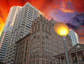 Edificios y los colores del cielo de brisbane — Foto de Stock