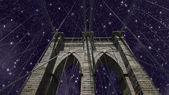 Sky over Brooklyn Bridge — Stock Photo