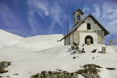 Small Church on Dolomites — Stock Photo