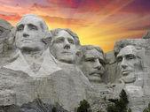 Mount Rushmore at Sunset, U.S.A. — Stock Photo