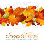 Autumnal seamless horizontal background — Stock Vector