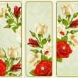 Vector set of Rose vertical banners — 图库矢量图片