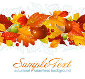 Autumnal seamless horizontal background — Stock Vector