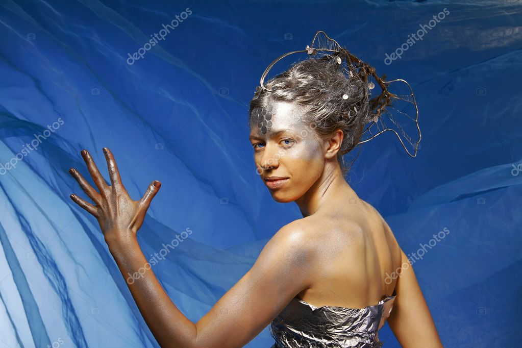 Portrait of a beautiful mermaid  Stock Photo #6712570