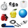 Stock Vector: Vector fitness icons