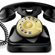 Vector vintage telephone — Stock Vector