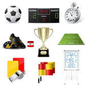 Vector soccer icons — Stock Vector
