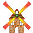 Royalty-Free Stock Vector Image: Wind mill house