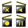 Movie cinema detailed icons — Stock Vector