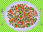 Vegetables salad — Stock Vector