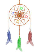 Dream catcher against white — Stock vektor