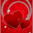 Abstract beautiful card background with hearts — Imagen vectorial